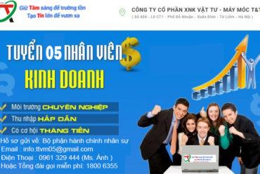 T&T Tuyển nhân viên kinh doanh mức lương 15tr