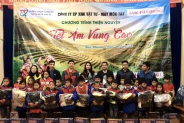 Chuyến thiện nguyện tết ấm vùng cao cùng băng tải Heesung tại Trường Tiểu Học Bản Khoang